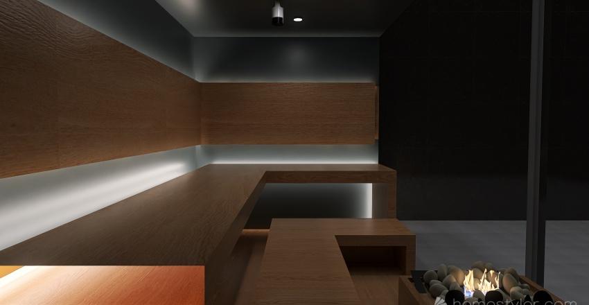Private Spa & Waterfall Interior Design Render