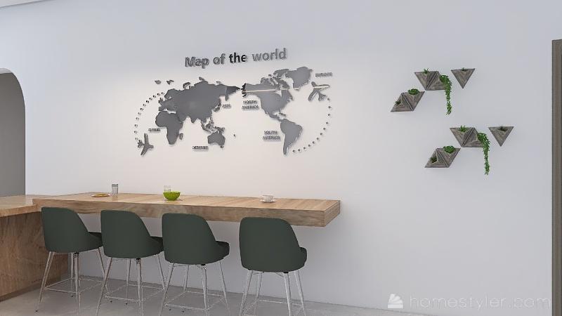 lanchonete Interior Design Render