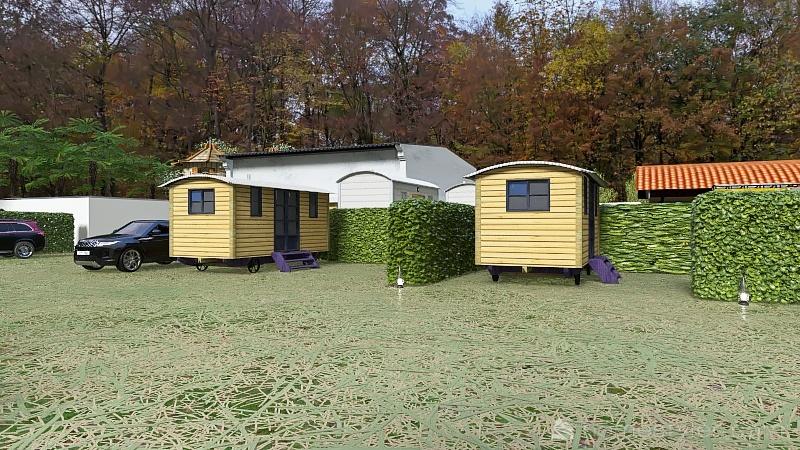 camping dans les bois Interior Design Render