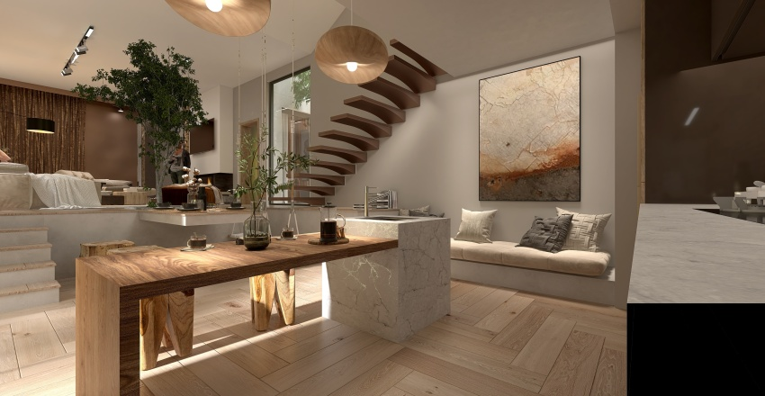 Refugio de otoño Interior Design Render