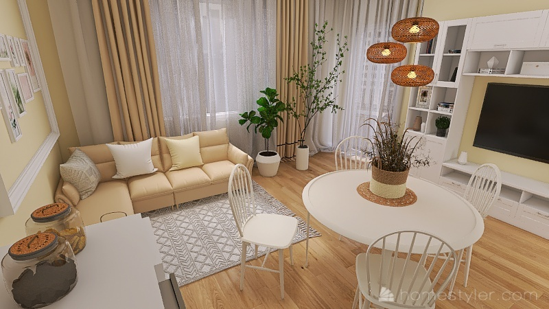 Salon Oksana K - 2 Interior Design Render