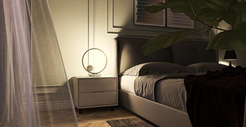 American Classic styled bedroom Interior Design Render