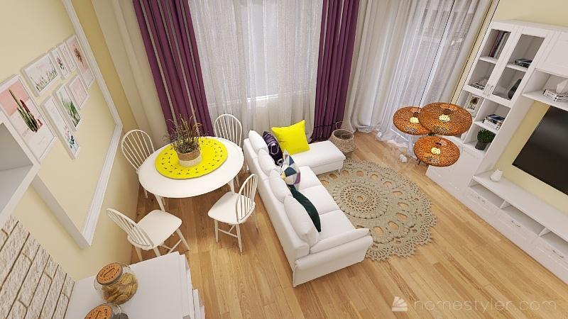 Copy of Salon Oksana K - 3 Interior Design Render