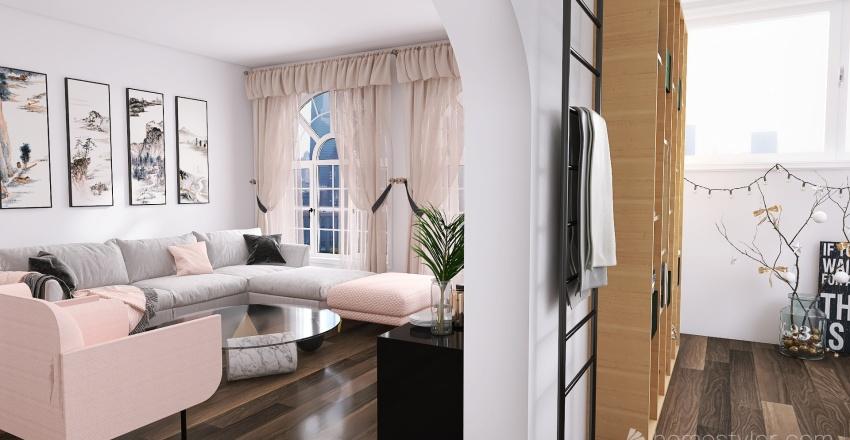 2br/ 3ba 125m^2 Interior Design Render