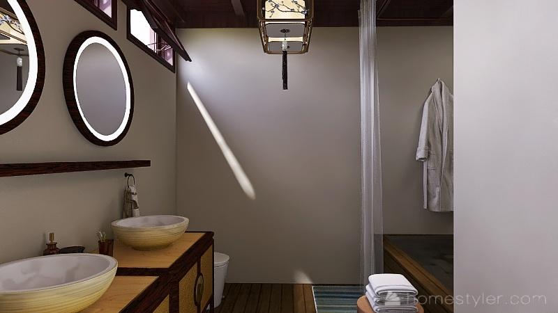 Japanese style house Interior Design Render