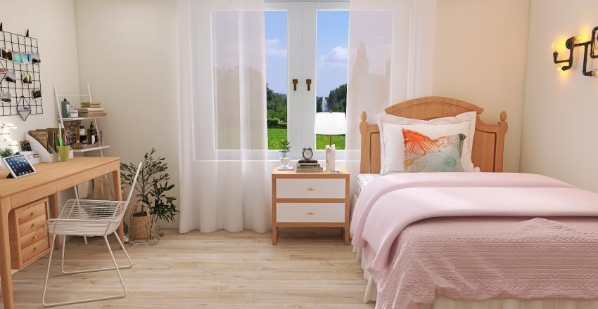 Aesthetic bedroom Interior Design Render