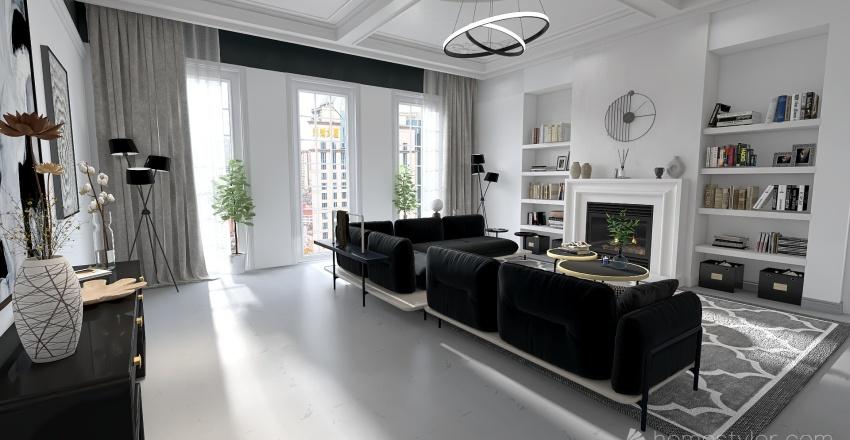 Bauhaus Model - Classic Black and White Interior Design Render