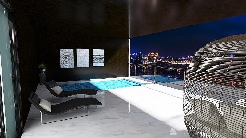 HOTEL DE LUJO NEGRO Interior Design Render