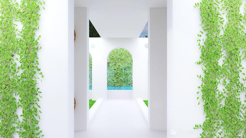 monastery nature house Interior Design Render