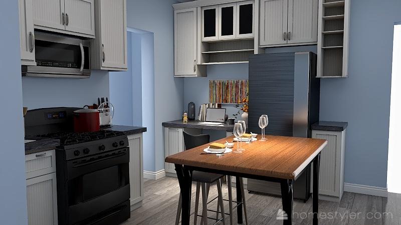 Beth's Kitchen Interior Design Render