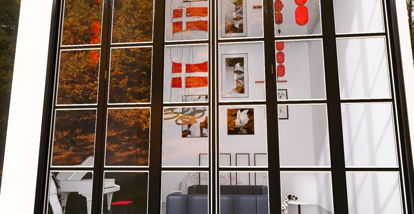 Accented Neutral Sitting Room Interior Design Render