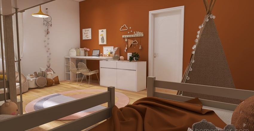 girls Interior Design Render