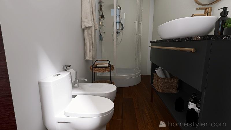 one bedroom little apartment Interior Design Render