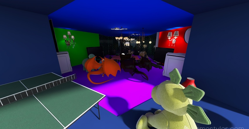 U2A4 Entertainment Bonus Room, Williams, Xander. Interior Design Render