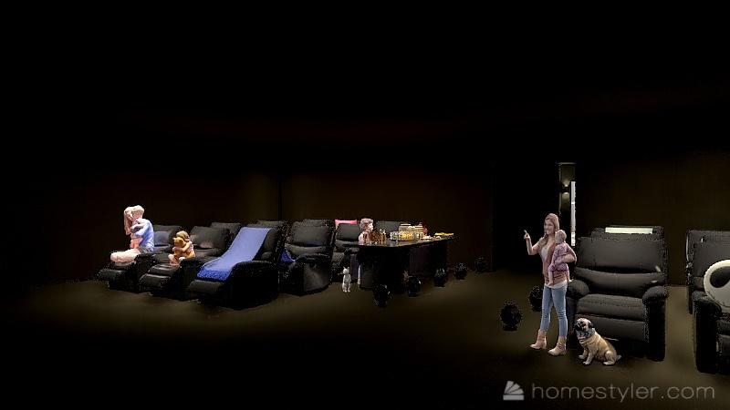 U2A4 Entertainment Bonus room - Bartley, Nora Interior Design Render