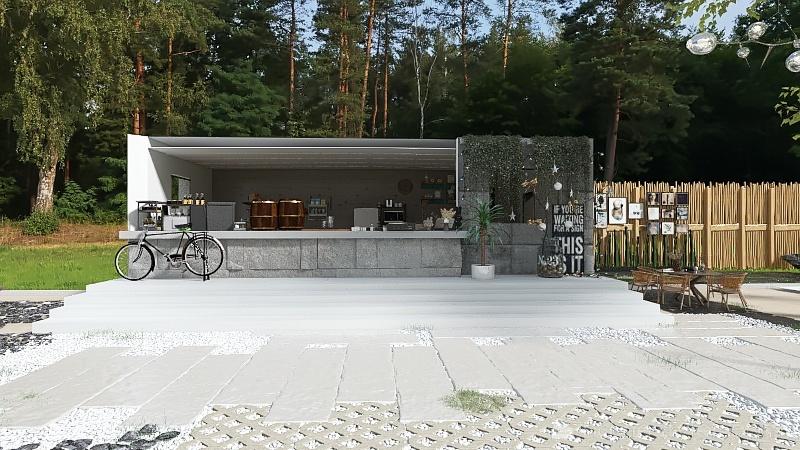 coffee cost Interior Design Render