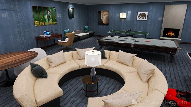 Copy of U2A4 entertainment bonus room Metler, Devon Interior Design Render