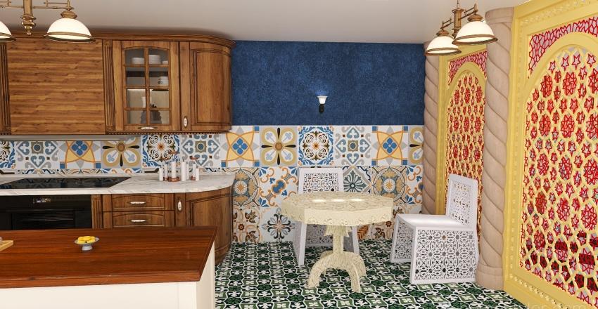 Moroccan style Interior Design Render