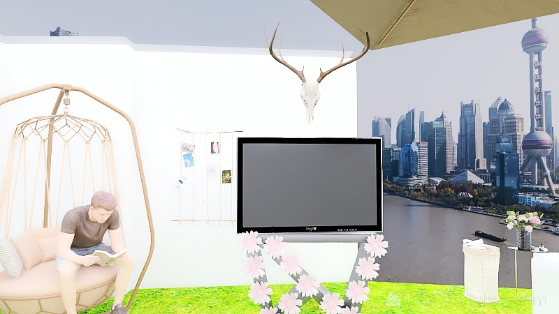 U2A4 Entertainment Bonus Room Butera, Emma Interior Design Render