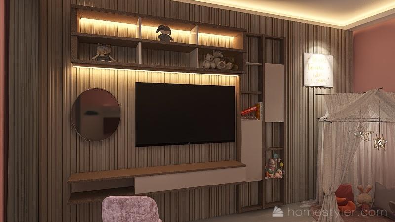 Girl's room Interior Design Render