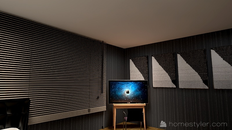 U2A2 welcome to my bedroom Maksymyshyn, Blake Interior Design Render