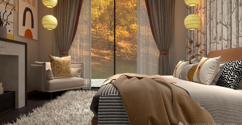 Country lodge Interior Design Render