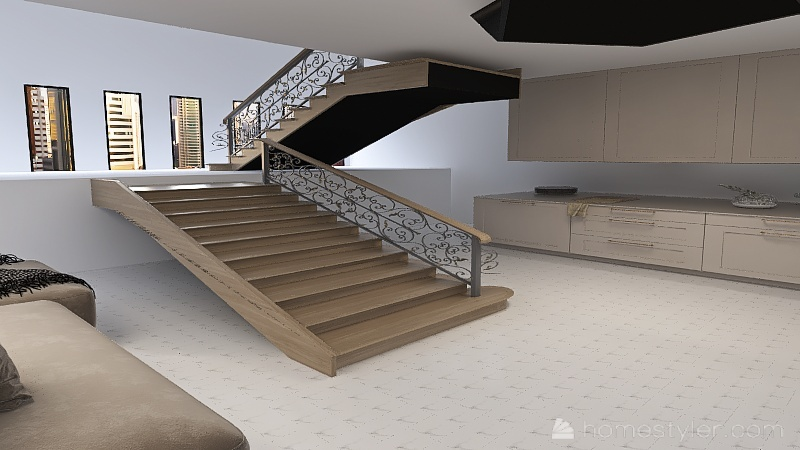 Chill House Interior Design Render