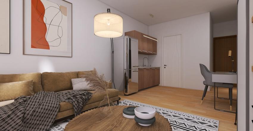 small apartment at Volos City Center Interior Design Render
