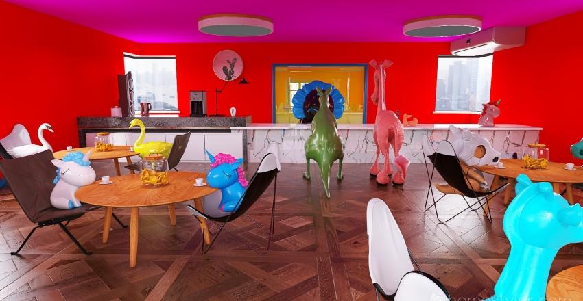 U2A6 Coffee House, Williams, Xander. Interior Design Render