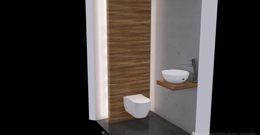 alternatief Toilet begane grond Interior Design Render