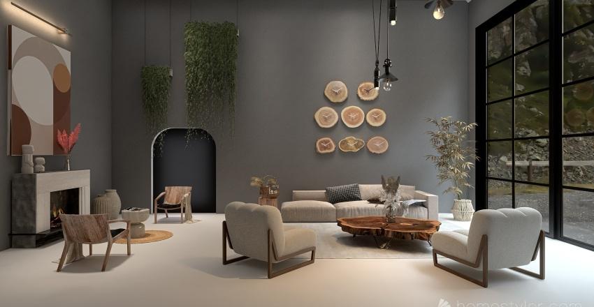 Residencia en las montañas Interior Design Render