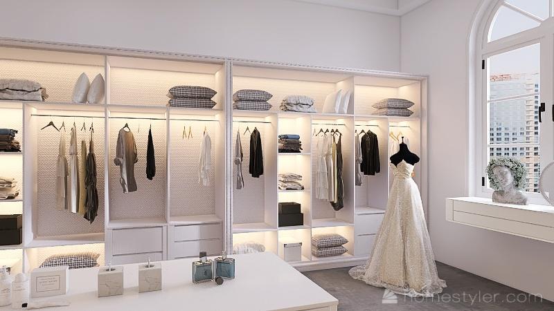 closet feminino Interior Design Render