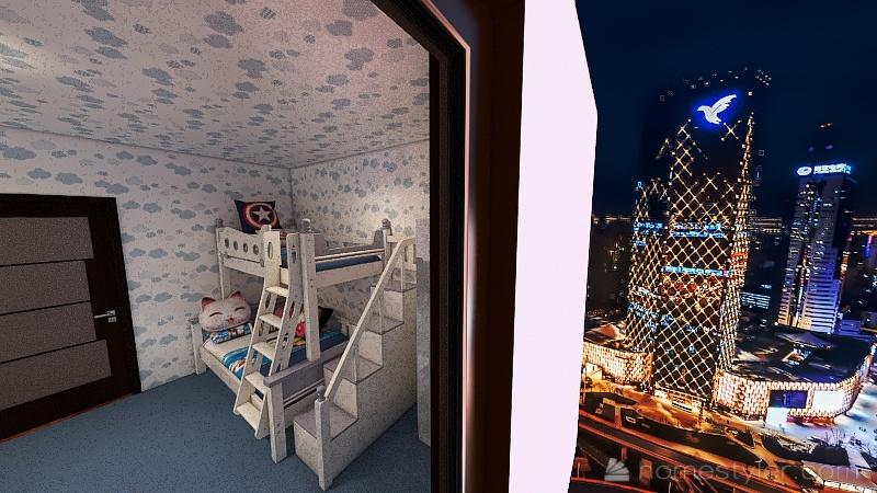 kid's Room Interior Design Render