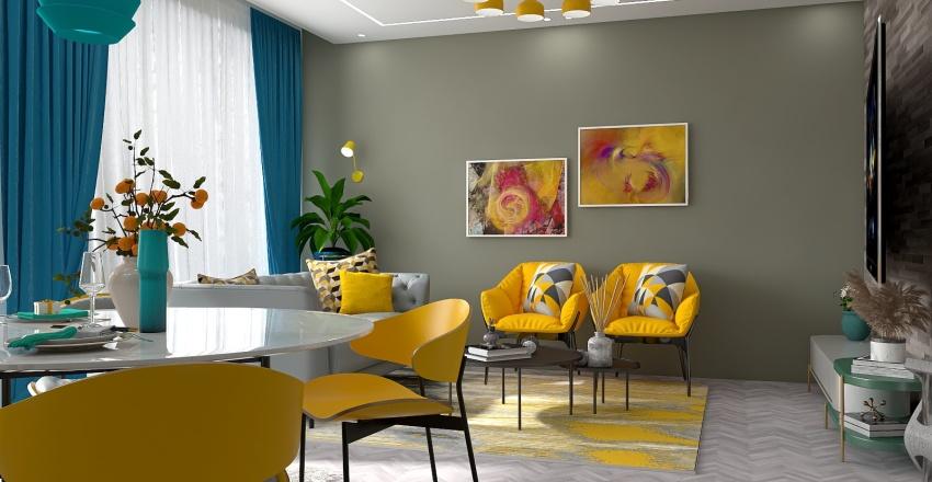 Yellow Interior Design Render
