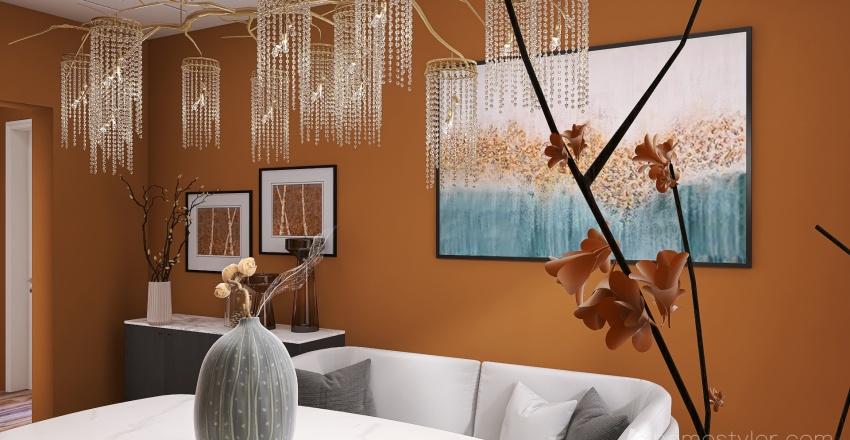 Shades of Autumn Interior Design Render