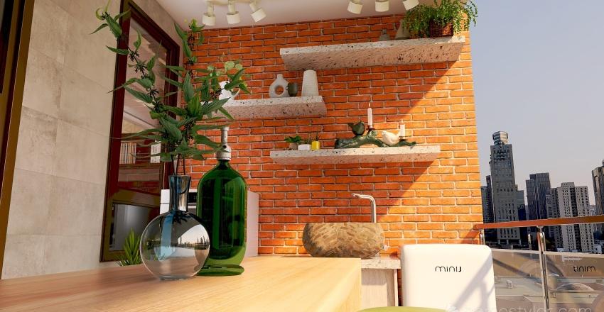 Flowers Interior Design Render