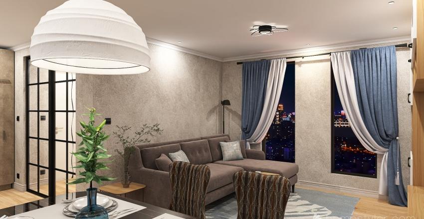 66 Sqm Interior Design Render