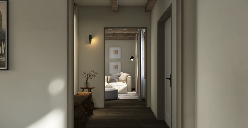 waterfront villa Interior Design Render