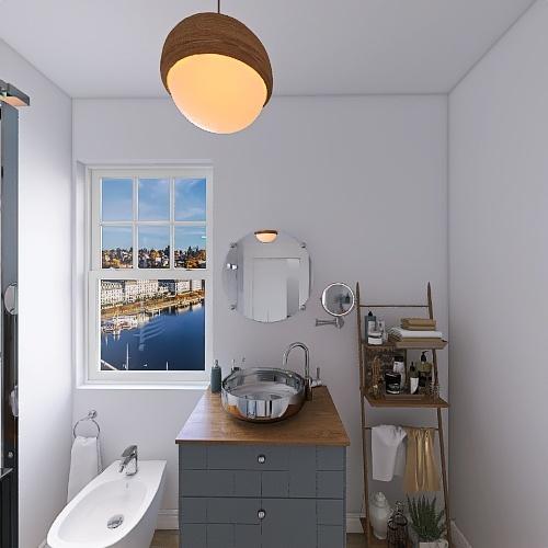 European Apartment Interior Design Render