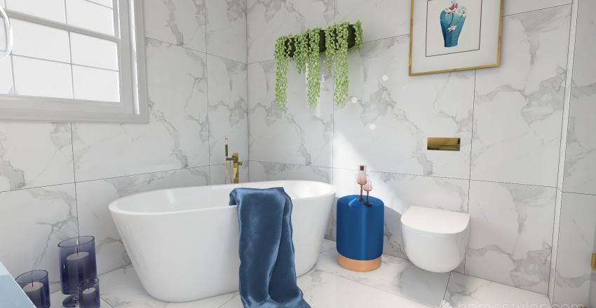 Blue perfect Interior Design Render