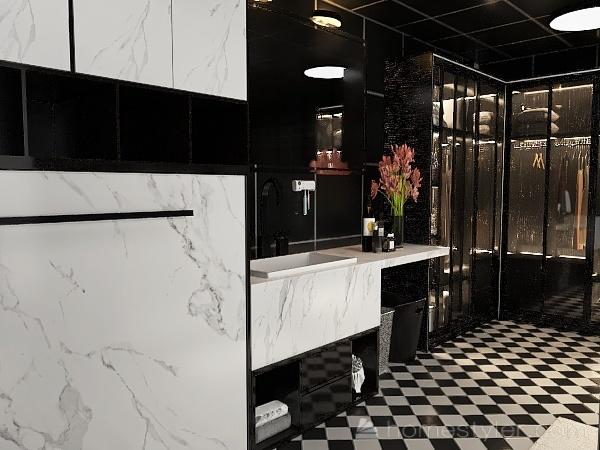 Modern loft apartment Interior Design Render