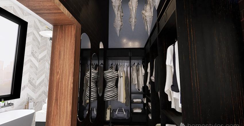 The industrial aparment  Interior Design Render