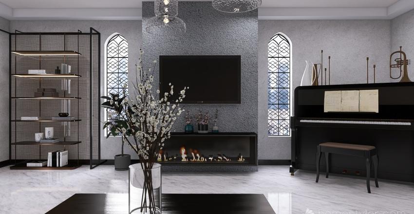 Living by -F Interior Design Render