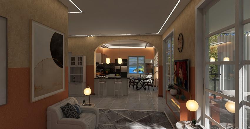 villa rimodernata Interior Design Render