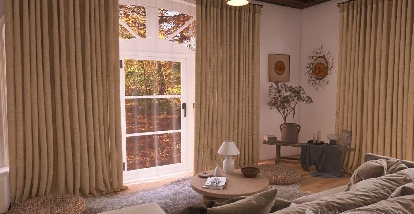 maison dans les bois  Interior Design Render