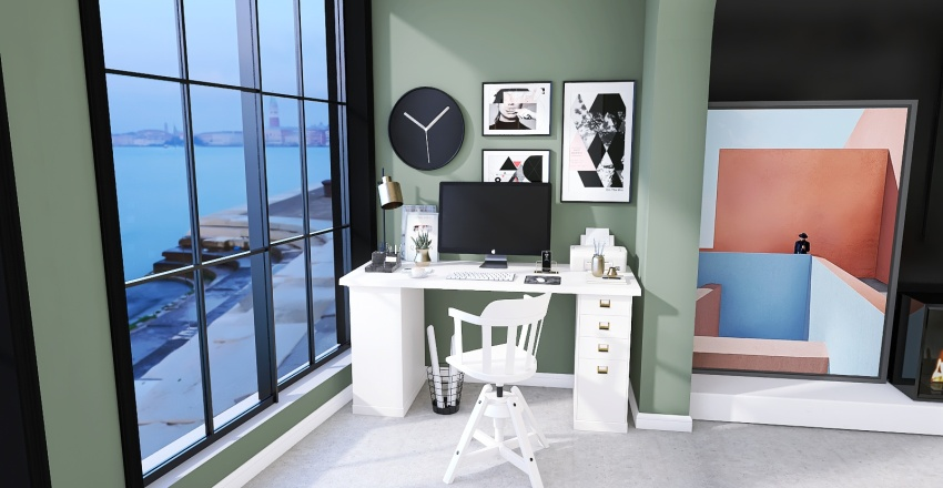 Beach front apartment Interior Design Render