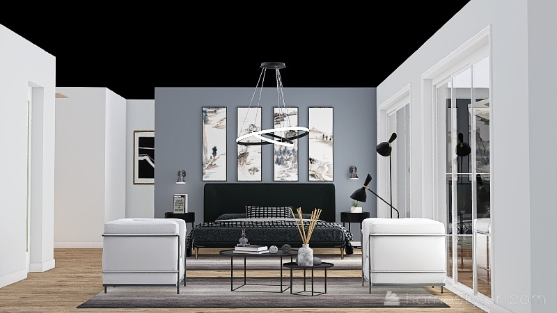 High Tech Interior Design Render