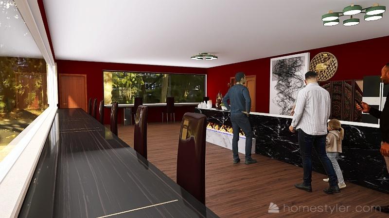 2A6 Coffee House Havryshkiv Mark Interior Design Render