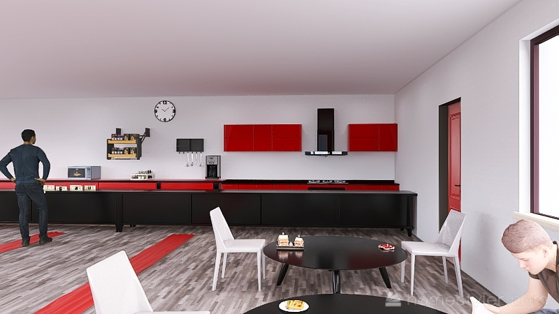 U2A6 Coffee House Maksymyshyn, Blake Interior Design Render