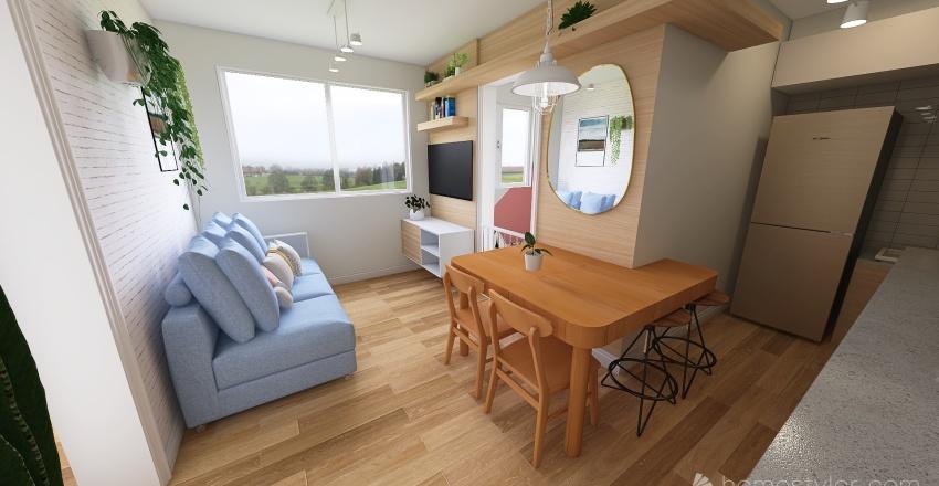 Ape 2 208 inova pirituba . mini apartamento . studio. 34 m² Interior Design Render